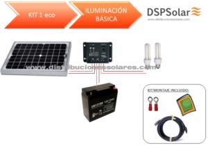 Kit Solar Fotovoltaico 1 ILUMINACIÓN BÁSICA