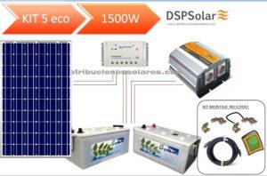 Kit Solar Fotovoltaico 5 ECO 1500 W