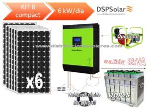 Kit Solar Fotovoltaico 8 COMPACT 6000W